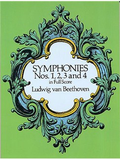 Beethoven: Symphonies Nos. 1, 2, 3 And 4 (Full Score) Livre | Orchestre