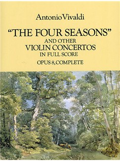 Antonio Vivaldi: 'The Four Seasons' And Other Concertos In Full Score Books | Orchestra, Violin