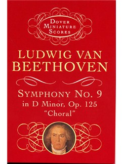 Beethoven: Symphony No.9 In D Minor Op.125 'Choral' (Miniature Score) Books | SATB, Orchestra