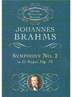 Johannes Brahms: Symphony No.2 In D Major Op.73 (Dover Miniature Score) Books | Orchestra