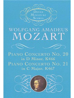 W.A.Mozart: Piano Concerto No.20 in D Minor K466, Piano Concerto No.21 in C Major K467 (Score) Books | Piano, Orchestra