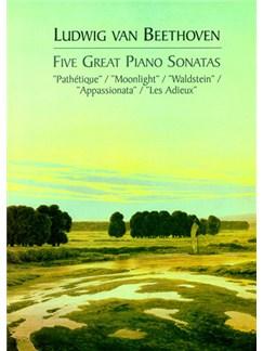 Beethoven: Five Great Piano Sonatas Books |