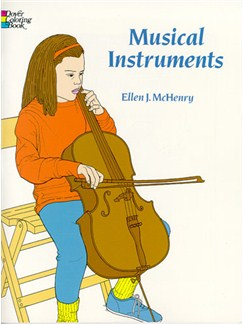 Musical Instruments Colouring Book Books |