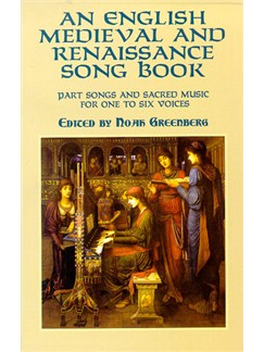 An English Medieval And Renaissance Song Book Books | Soprano, Alto, Tenor, Bass