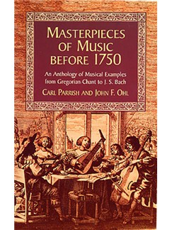 Masterpieces Of Music Before 1750 Books |