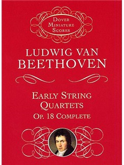 Beethoven: String Quartets Op.18 (Dover Miniature Score) Books | String Quartet