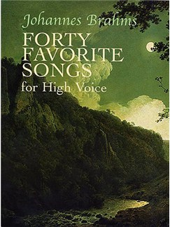 Johannes Brahms: Forty Favorite Songs For High Voice Books | High Voice, Piano Accompaniment