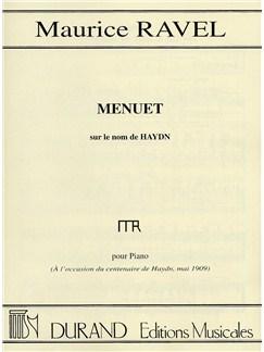 Maurice Ravel: Menuet Sur Le Nom De Haydn (Piano Solo) Books | Piano