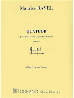 Maurice Ravel: Quatuor (Parts) Books | Two Violins, Viola, Cello