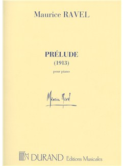 Maurice Ravel: Prelude (1913) Books | Piano