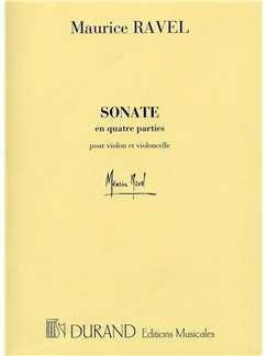 Maurice Ravel: Sonate En Quatre Parties (Violin and Cello) Books | Violin, Cello