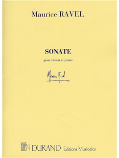 Maurice Ravel: Sonate Pour Violon Et Piano Books | Violin, Piano Accompaniment