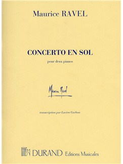 Maurice Ravel: Concerto En Sol (Two Pianos) Books | Two Pianos