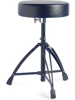 Stagg: Double Braced Drum Throne - Black  | Drums
