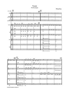 Philip Glass: Vessels From Koyaanisquatsi (Score) Books | Soprano, 2 Alto, 2 Tenor, Bass, Flute, Soprano Saxophone, Tenor Saxophone