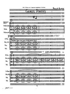 Philip Glass: Facades (Score) Libro | Flauta, Instrumentos de Cuerdas, Saxo Soprano