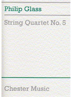 Philip Glass: String Quartet No.5 (Score) Books | String Quartet