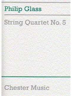 Philip Glass: String Quartet No.5 (Score) Livre | Quatuor À Cordes
