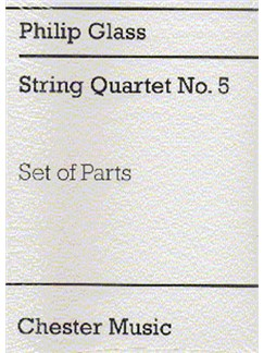Philip Glass: String Quartet No.5 (Parts) Books | String Quartet