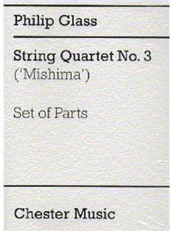 Philip Glass: String Quartet No. 3 (Mishima) Parts Books | String Quartet