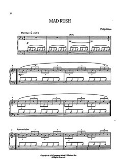Philip Glass: Mad Rush Books | Organ, Piano