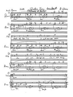 Philip Glass: Gretas Song (Streets Of Berlin) Libro | Voz, Acompañamiento de Piano