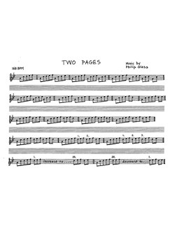 Glass: Two Pages For Piano Books | Piano, Keyboard