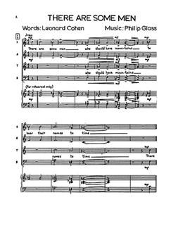 Philip Glass: Three Songs Books | Soprano, Alto, Tenor, Bass