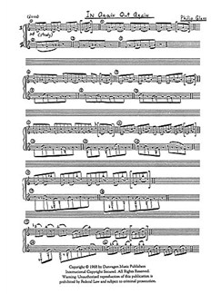 Philip Glass: In Again Out Again For Two Pianos Livre | Deux Pianos