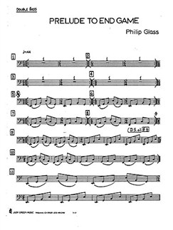 Philip Glass: Prelude To 'Endgame' Books | Double Bass, Timpani