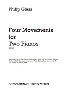 Philip Glass: Four Movements For Two Pianos Books | Piano