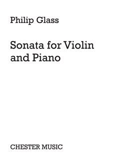 Philip Glass: Sonata For Violin And Piano Books   Piano, Violin