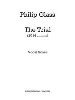 Philip Glass: The Trial (Vocal Score) Books | Opera