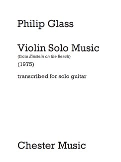 Philip Glass: Violin Solo Music (Solo Guitar) Libro | Guitarra