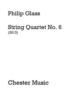 Philip Glass: String Quartet No. 6 (Score) Books | String Quartet