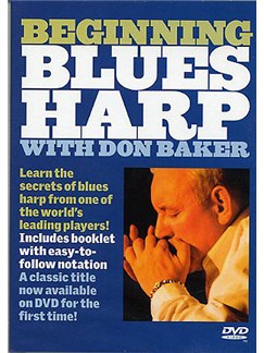 Beginning Blues Harp With Don Baker DVD DVDs / Videos | Harmonica