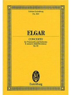 Edward Elgar: Cello Concerto In E Minor Op.85 (Eulenburg Miniature Score) Books   Cello, Orchestra