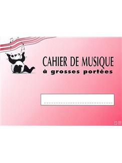 Cahier De Musique À Grosses Portées Books | All Instruments