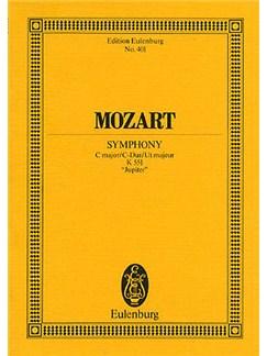 W.A. Mozart: Symphony No.41 In C K.551 'Jupiter' (Eulenburg Miniature Score) Books   Orchestra