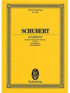 Franz Schubert: Symphony No.8 In B Minor 'Unfinished' (Eulenburg Miniature Score) Books | Orchestra