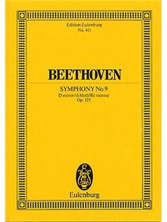 Ludwig Van Beethoven: Symphony No.9 In D Minor Op.125 (Eulenburg Miniature Score) Books | 4 Soloists, SATB, Orchestra