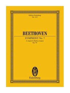 Ludwig Van Beethoven: Symphony No.7 In A Op.92 (Eulenburg Miniature Score) Books | Orchestra