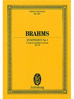 Johannes Brahms: Symphony No.1 In C Minor Op.68 (Eulenburg Miniature Score) Books | Orchestra