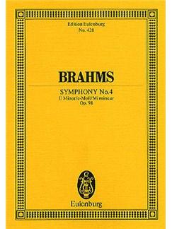 Johannes Brahms: Symphony No.4 In E Minor Op.98 (Eulenburg Miniature Score) Books | Orchestra