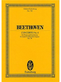 Ludwig Van Beethoven: Concerto No.4 In G Op.58 (Eulenburg Miniature Score) Books | Piano, Orchestra