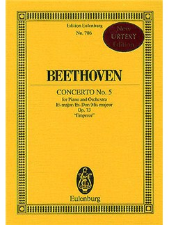 Ludwig Van Beethoven: Concerto No.5 In E Flat Op.73 'Emperor' (Miniature Score) Books | Piano, Orchestra