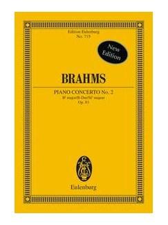 Johannes Brahms: Piano Concerto No.2 In B Flat Op.83 (Eulenburg Miniature Score) Books | Piano, Orchestra