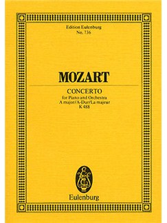 W.A. Mozart: Piano Concerto No.23 In A Kv.488 (Eulenburg Miniature Score) Books | Piano, Orchestra
