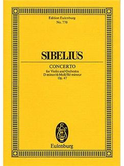 Jean Sibelius: Concerto For Violin And Orchestra In D Minor Op.47 (Eulenburg Miniature Score) Books | Violin, Orchestra