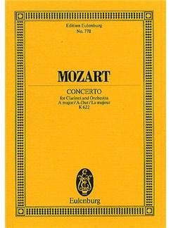 W.A. Mozart: Clarinet Concerto In A K.622 (Eulenburg Miniature Score) Books | Clarinet, Orchestra